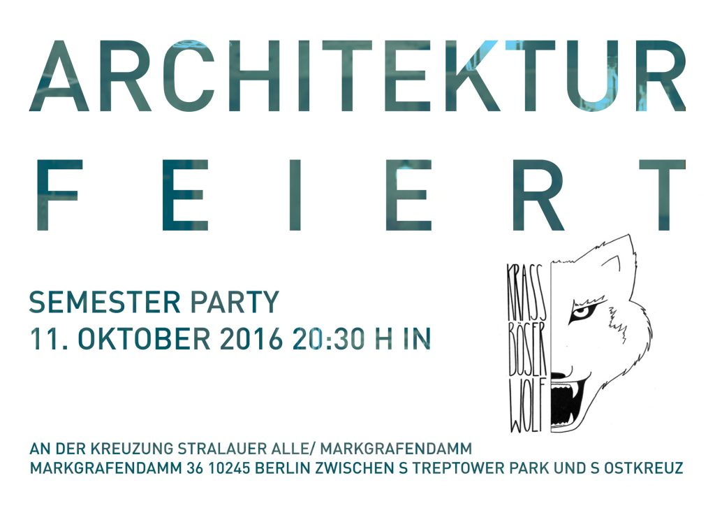 Architektur feiert for Architektur tu berlin